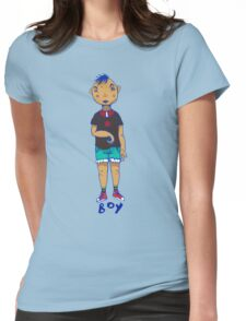 Boy illustration Womens Fitted T-Shirt