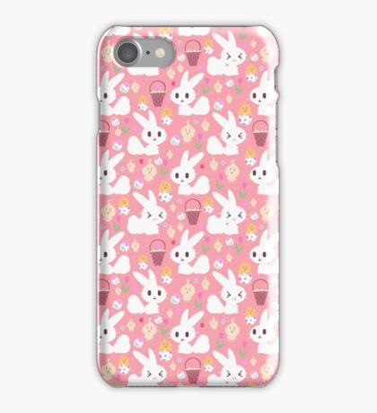 Easter Bunny Pink Pattern iPhone Case/Skin
