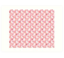 Easter Bunny Pink Pattern Art Print