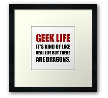 Geek Life Dragons Framed Print