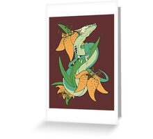 Tiger Lily Dragon Greeting Card
