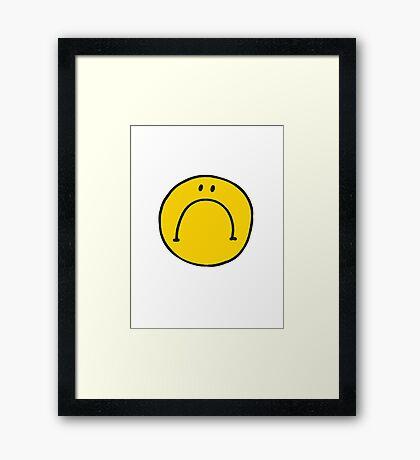 Mr UnHappy Framed Print