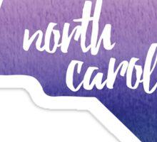 North Carolina - purple watercolor Sticker