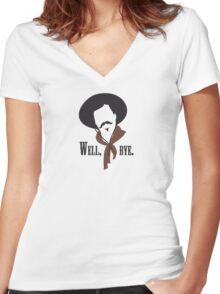 Tombstone: Curly Bill Women's Fitted V-Neck T-Shirt
