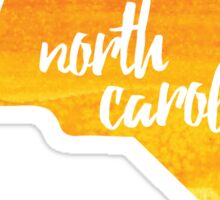 North Carolina - yellow watercolor Sticker