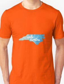 North Carolina - blue watercolor Unisex T-Shirt