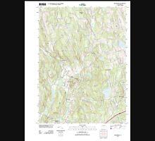 USGS TOPO Map Connecticut CT Woodbury 20120521 TM Unisex T-Shirt