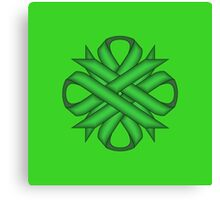 Green Clover Ribbon Canvas Print