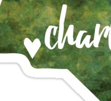 Charlotte, North Carolina - green watercolor Sticker