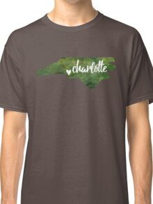 Charlotte, North Carolina - green watercolor Classic T-Shirt