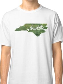 Charlotte, North Carolina - green watercolor Classic T-Shirt