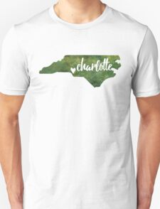 Charlotte, North Carolina - green watercolor Unisex T-Shirt