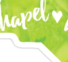 Chapel Hill, North Carolina - green watercolor Sticker