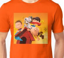 charlie brown snoopy peanuts fly high Unisex T-Shirt