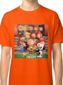 charlie brown snoopy peanuts foto session Classic T-Shirt