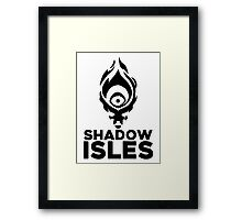 Shadow isles Framed Print