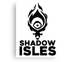 Shadow isles Canvas Print