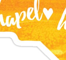 Chapel Hill, North Carolina - yellow watercolor Sticker