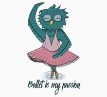 Owl ballerina Kids Tee