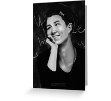 BTS Rap Monster 05 Greeting Card