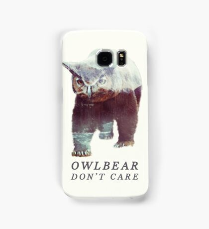 Owlbear Don't Care Samsung Galaxy Case/Skin