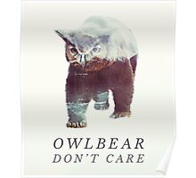 Owlbear Don't Care Poster