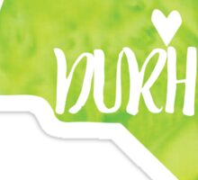 Durham, North Carolina - Green watercolor Sticker