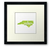 Durham, North Carolina - Green watercolor Framed Print