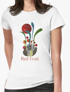Red fruit Womens Fitted T-Shirt