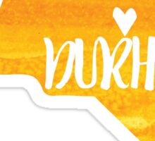 Durham, North Carolina - yellow watercolor Sticker