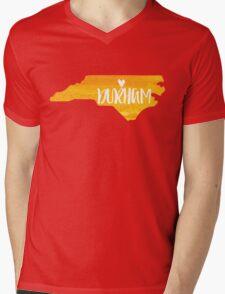 Durham, North Carolina - yellow watercolor Mens V-Neck T-Shirt