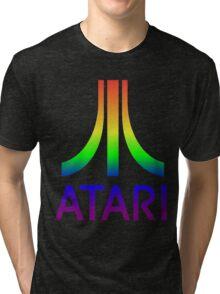 Atari Big Rainbow Logo Tri-blend T-Shirt