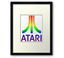 Atari Big Rainbow Logo Framed Print