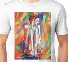 """Seated thoughtful figure"" Unisex T-Shirt"