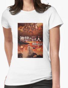 Shingeki No Kyubi SNK Womens Fitted T-Shirt