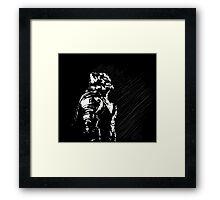 Batman Superman Buster Framed Print