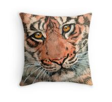 Tiger portrait 884 Throw Pillow