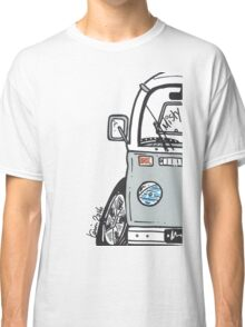 VW Camper Van Misty Grey Bay Classic T-Shirt