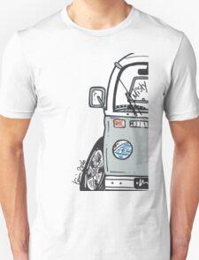 VW Camper Van Misty Grey Bay Unisex T-Shirt