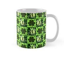 Green Bee Clover Pattern Mug