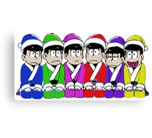 Japan Christmest Characters Canvas Print