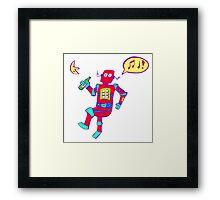 Tipsy Robot Framed Print