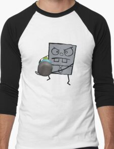 Doodlebob - Spongebob Men's Baseball ¾ T-Shirt