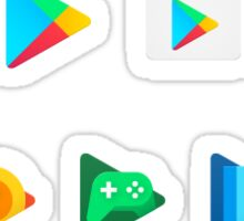 New Google Play Logos Sticker