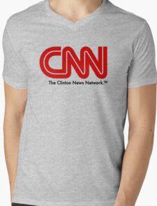 CNN - The Clinton News Network Mens V-Neck T-Shirt