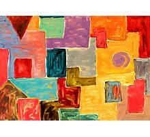 Abstract Oil painting shapes Photographic Print