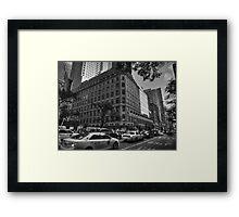 Manhattan - 5th Ave. 004 BW Framed Print