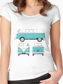 VW Bus Con Women's Fitted Scoop T-Shirt