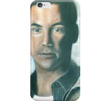 """hand drawing with pastels """"K.Reeves"""" iPhone Case/Skin"""