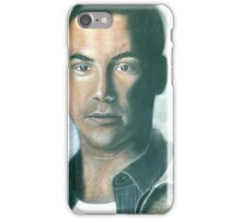 "hand drawing with pastels ""K.Reeves"" iPhone Case/Skin"